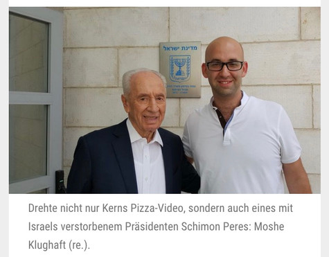 Moshe Klughaft and the President of Israel
