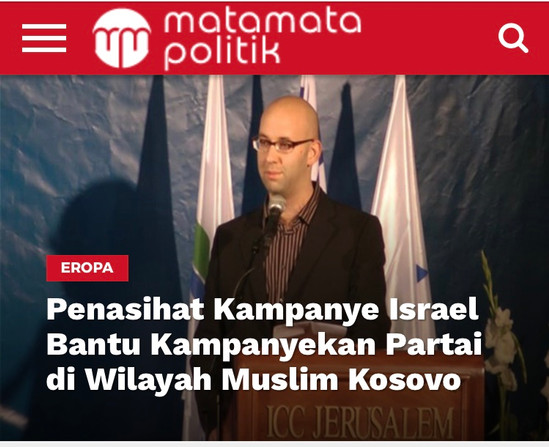 Moshe Klughaft in the press in Indonesia on the election victory