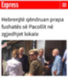 Moshe Klughaft Victory in the elections in Kosovo משה קלוגהפט ניצחון בבחירות בקוסובו