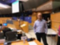 Moshe Klughaft in the European Parliament  משה קלוגהפט בפרלמנט האירופי