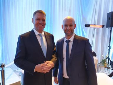 Moshe Klughaft and the president of Romania