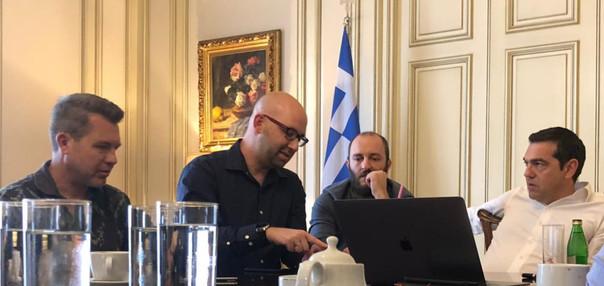 Moshe Klughaft and Greece Prime Minister
