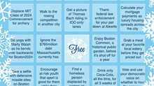 Play #NoBoston2024 Bingo!