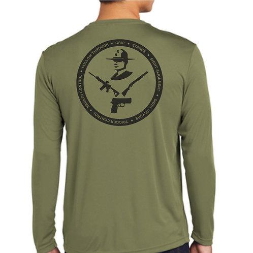 DSP Firearms long sleeve moisture wicking shirt