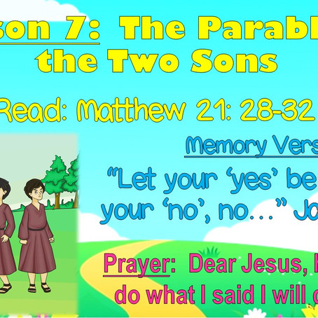 Storytime with Jesus - Lesson 7