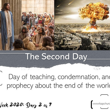 Holy Week 2020 - Day 2   07.04.2020