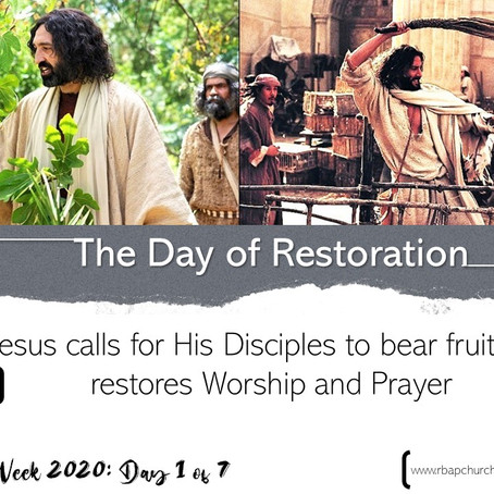 Holy Week 2020 - Day 1 | 06.04.2020