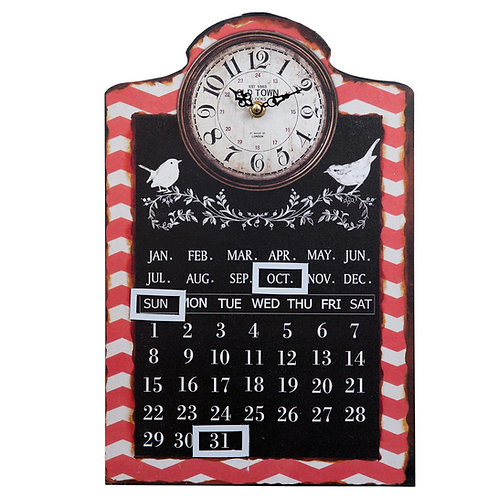 RELOJ DE PARED CON CALENDARIO