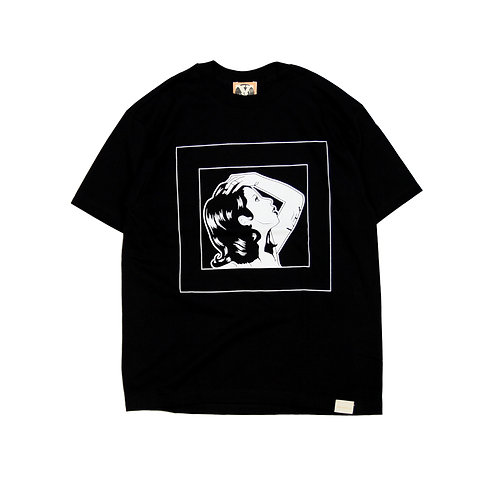 LADY SKETCH S/S T-shirts [ BLACK ]