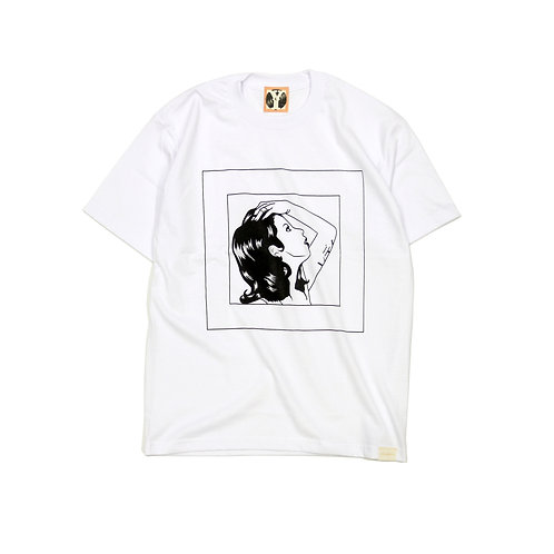 LADY SKETCH S/S T-shirts [ WHITE ]