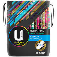 U by Kotex Regular Pads 16pk