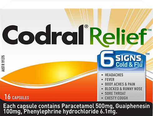 Codral Relief 6 Signs