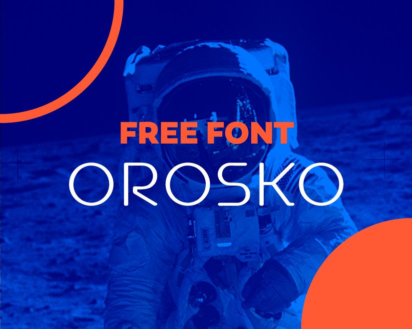 OROSKO free typeface