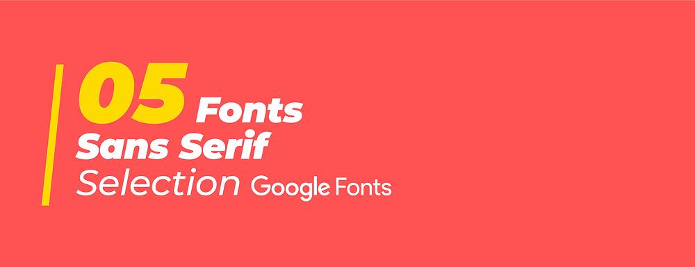 5 fonts Sans serif