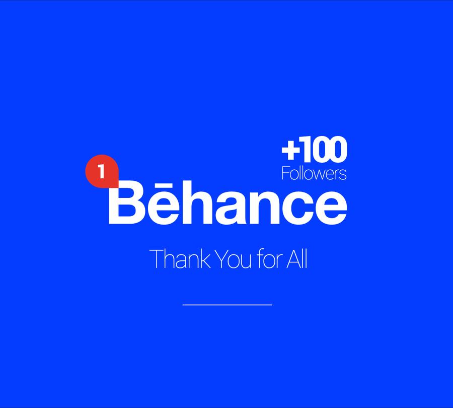 +100 Sur Behance !