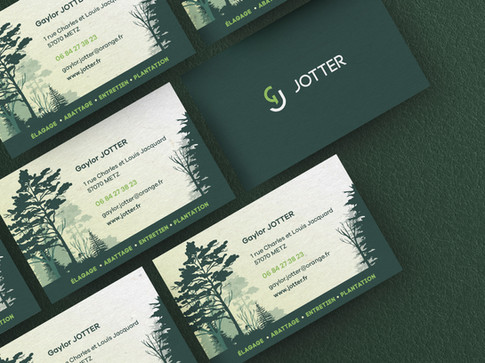 JOTTER Logo design + Carte-de-visite