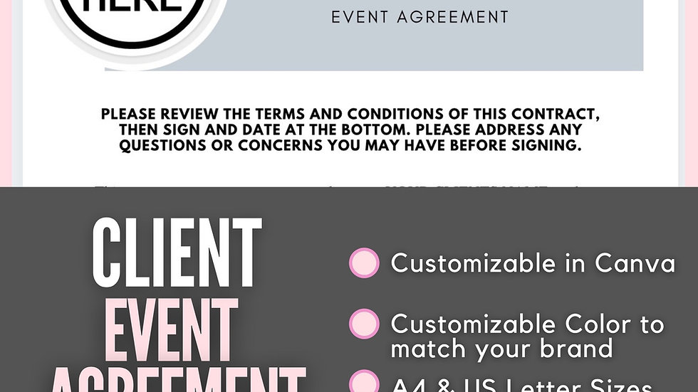 Event Planning Agreement