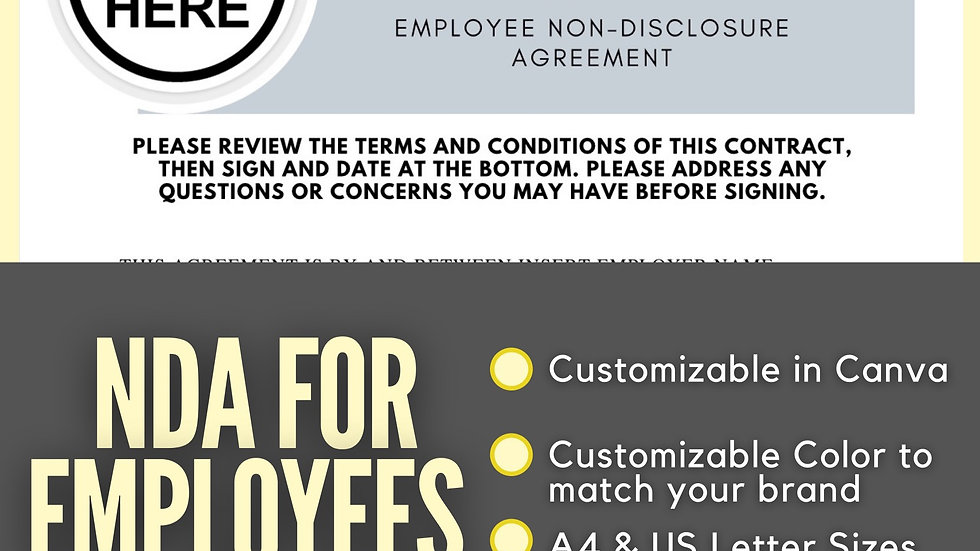 Non-Disclosure Agreement for Employees