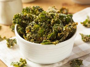 Turmeric Cheddar Kale Chips