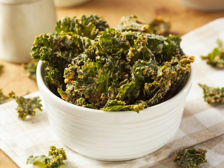 Turmeric Cheddar Kale Chips