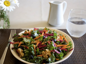 Muskoka Kale Salad With Maple Sumac Dressing
