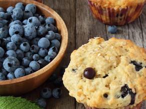 Blueberry Muffins (vegan, gluten free)