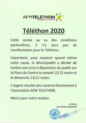 Téléthon 12 et 13 décembre 2020