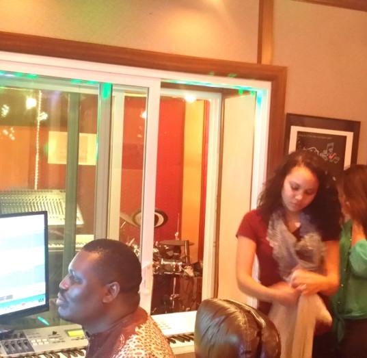 Rev Joe Mens in Studio with Artiste in session