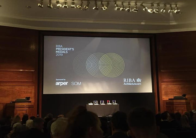 RIBA President's Medal Awards ceremony 2019
