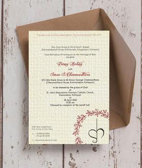 Traditional print invite
