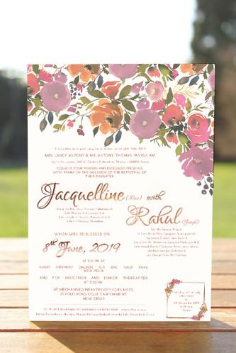 Gold foil print invite