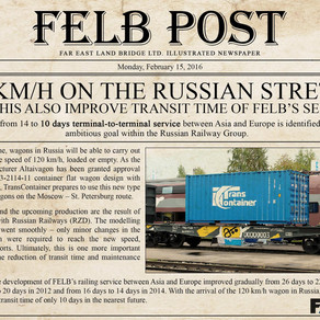120 Km/h on the Russian stretch, will this also improve transit time of FELB's service?