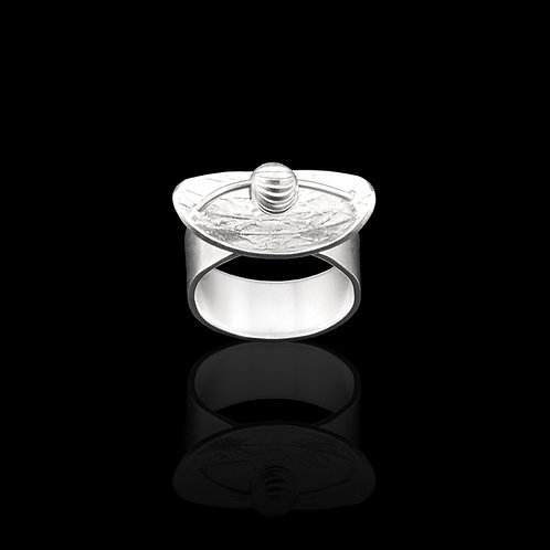 Silver Moving Ball Ring