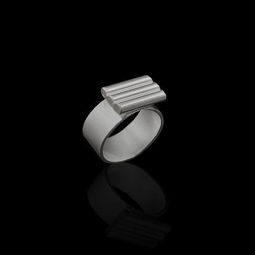 Silver Tube Ring
