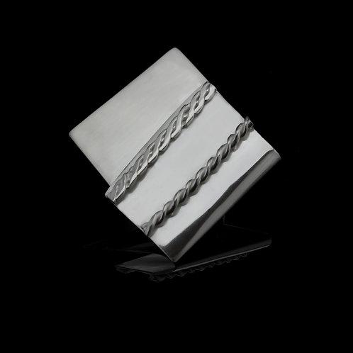 Ribbon Brooch (Silver)