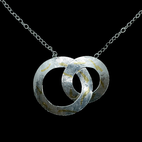 Double Circle Keum-Boo Necklace