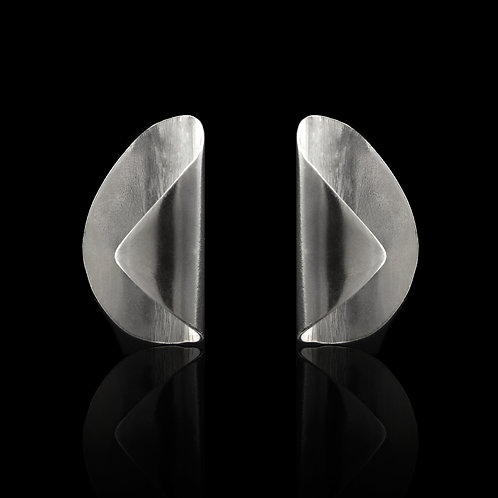 Curved Earrings (Silver)