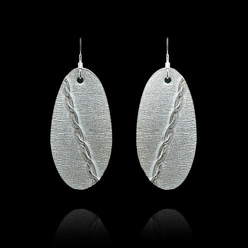 Drop Oval Earrings