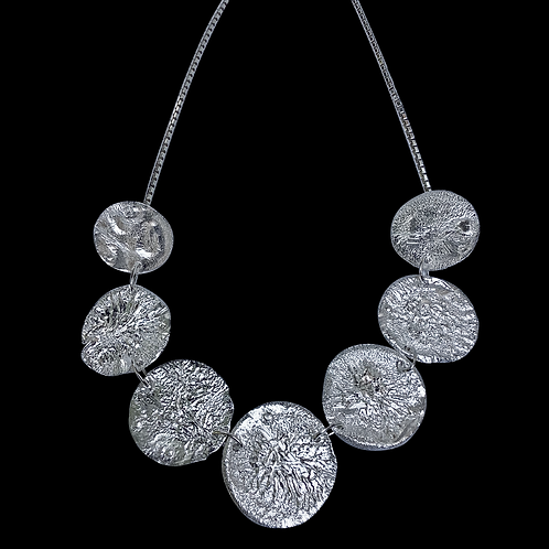 Sterling Silver Reticulated Necklace