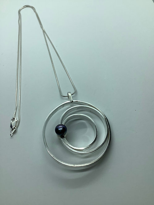 Sterling Silver Three Circle Pendant