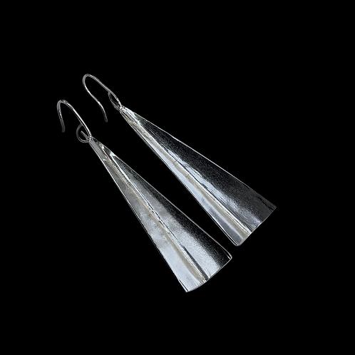 Sterling Silver Triangular Drop Earrings
