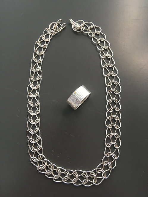 Sterling Silver Woven Flat Chain