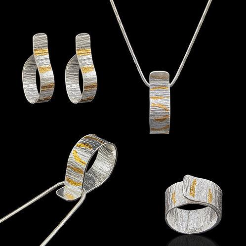 Keum-Boo Earrings, Pendant & Ring