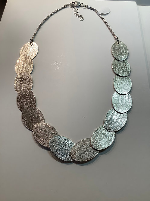 Long Sterling Silver Riveted Necklace