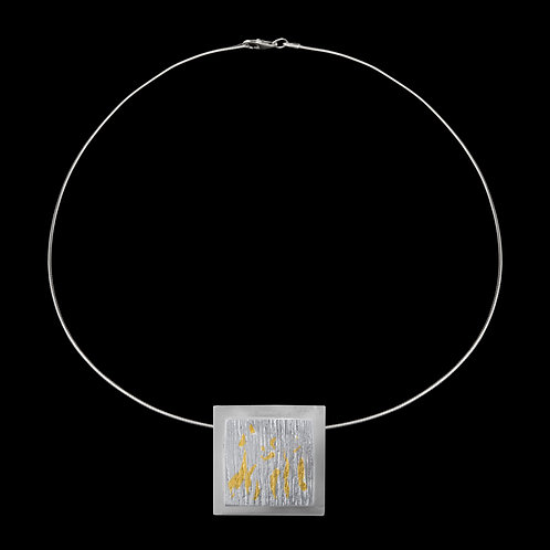 Square Keum-Boo Pendant