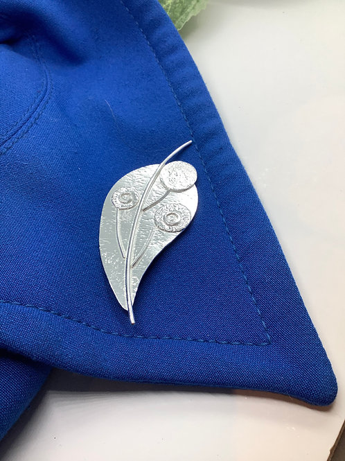 Sterling silver Leaf Brooch and Pendant
