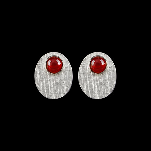 Garnet & Silver Earrings