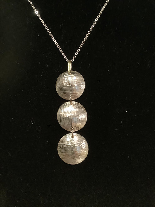 Silver and Gold Domed Pendant