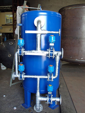 surface piping activated carbon filter
