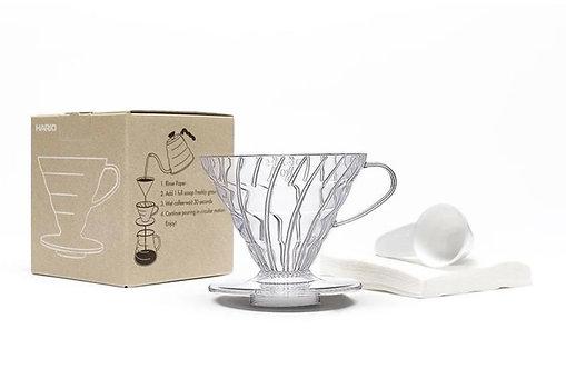 Hario V60 Coffee Dripper Set Transparent Size 02